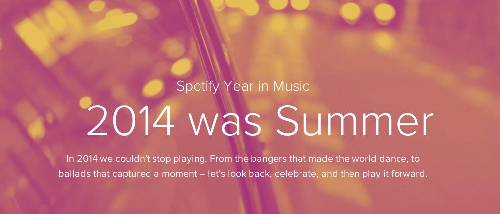 Een playlist van 2014